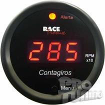 Contagiros Rpm Digital Luz Led Vermelho 52mm Racetronix