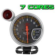 Contagiro 125 Mm 5x1 Com 7 Cores Com Shift Light Manometros