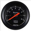 Contagiros Rpm 52mm Willtec Plus Fundo Preto 52mm Tuning