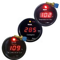 Kit Digital Racetronix Contagiro Rpm Temperatura Água Óleo