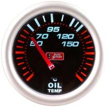 Auto Gauge Temperatura De Oleo Eletrico 52mm Smoke Series