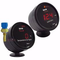 Medidor Digital Bateria Voltimetro Temperatura Água Carro Vm