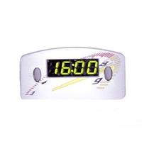 Relógio Digital Horas Painel Carro 12v Cinza Led Verde