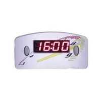 Relógio Digital Horas Painel Carro 12v Cinza Led Vermelho