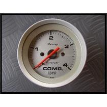 Manometro De Combustivel Até 4 Kg Cronomac Racing 52mm