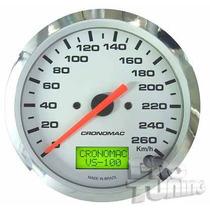 Velocímetro Eletronico Universal Cromado 100mm Cronomac