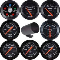 Kit Instrumento Manômetro Willtec 52mm + Copo Pvc Vários Mod