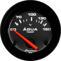 Termômetro Água 50-150c 52mm Motor Led Street Preto Cronomac
