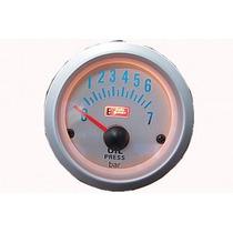 Auto Gauge Pressão De Oleo 7 Bar 52mm Silver Serie