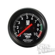 Pressão De Combustível 10kg 60mm Série Opala Ss - Cronomac