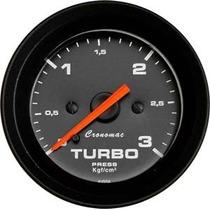 Manômetro Pressão Turbo 3kg Street Preto Led Cronomac
