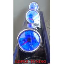 Coluna Smoke Manômetro 3 Relógio Contagiro Oleo Temp Agua