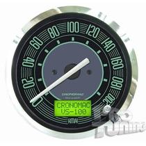 Velocímetro Eletrônico 100mm Verde Fusca - Cronomac