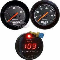 Kit Pressão Oleo Turbo Termômetro Agua + Kit Instal Cronomac