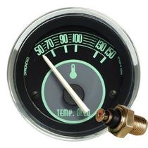 Termômetro Óleo Volks Verde Fusca + Sensor Cronomac Led