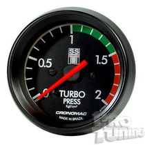Manômetro Pressão Turbo Série Ss Opala 2kg Mecânico Cronomac