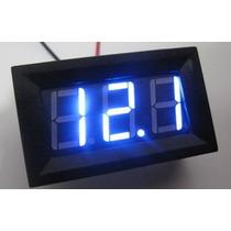 Voltímetro Automotivo Digital Display Azul