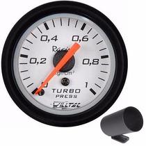 Pressão Turbo Manômetro Willtec 1kg 52mm Turbina + Copo Pvc