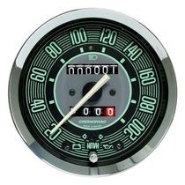 Velocímetro 100mm Cronomac Fusca Sinaleira Painel Verde