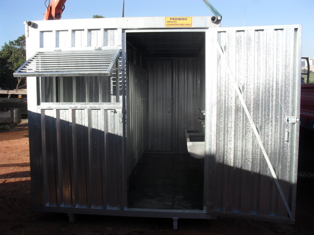 Container Habitavel Banheiro Coletivo R$ 17.640 00 no MercadoLivre #2262A9 1024x768 Banheiro Container Sp