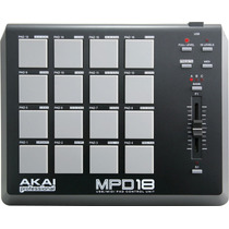 Akai Mpd 18 . Controladora Midi Para Djs . Loja . Garantia .