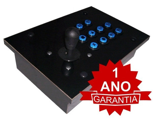 Controle Arcade Tipo Fliperama Usb Pc/ps3 Ou Ps2