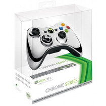 Controle Xbox 360 Sem Fio Wireless Chrome Series Prata