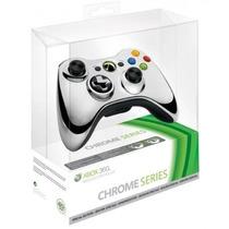 Controle Xbox 360 Sem Fio Chrome Series Silver Prata