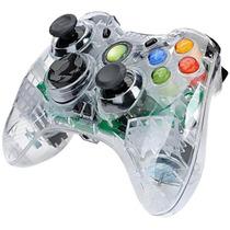Controle Transparente Com Leds Xbox 360 Com Fio