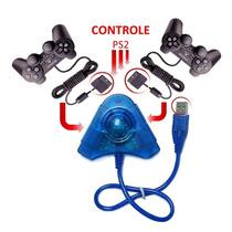 Adaptador Usb Duplo P/ Controles Ps1 E Ps2 Plug No Pc