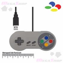 Controle Super Nintendo Usb Snes Super Famicom Pc Mac Linux