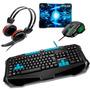 Kit Game Metal War Teclado Tc185 + Mouse Mo207 + Headset