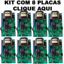 Kit 8 Central Placa Portão Eletrônico Ppa Garen Rossi Univer