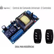 Placa Central Comando Motor Portão Eletrônico + 02 Controles
