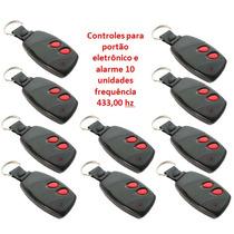 Kit Controle P/ Portão Eletrônico E Alarme 433 Hz | 10 Unid.