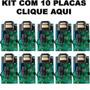 Kit 10 Central Placa Portão Eletrônico Ppa Garen Rossi Unive