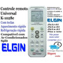 Controle Remoto Universal P/ Ar Condicionado E Split Elgin