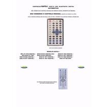 Controle Remoto Dvd Automotivo Napoli Dvd-tv7872 7780 7811
