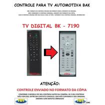 Controle Para Tv Digital Automotiva Bak 7190 Fbt 2082