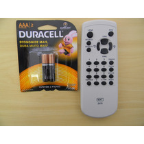 Controle Remoto Tv Tubo Cineral Tc2070 + Pilhas Duracell Aaa