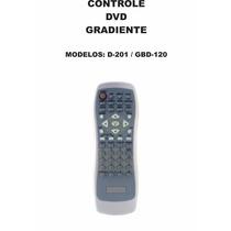 Controle Remoto Dvd Gradiente D-201 Gbd-120