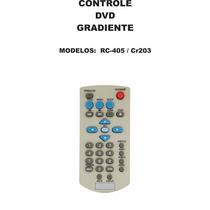 Controle Remoto Dvd Gradiente Rc-405 Cr203