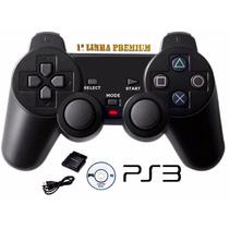 Controle Ps3 + Wireless + Ps2 + Ps1 + Pc - Sem Fio 4 Em 1