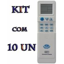Kit 10 Controles Remoto Ar Condicionado Universal