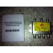 Chave Comutadora 3x4 Sky Hd Advansat Adv 34a