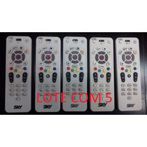 Controle Remoto Sky S14 Tv Livre Lote Com 5 Peças