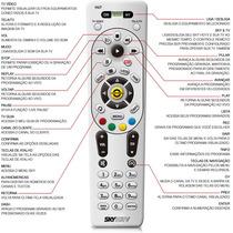 Controle Remoto Sky Hdtv H67 Hd + Pilhas --- Original