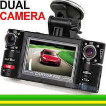 Câmera Veicular Hd Dvr Lcd Espiã Visão Noturn 8 Led Dual F30