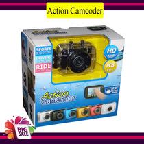 Camera Filmadora Digital Action - Touch Panel - Prova Dágua