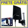 Antena Ext Dtv-5600 Uhf Vhf Fm Hdtv Amplificada Frete Grátis